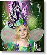 Butterfly Fairy Metal Print by Ellen Henneke