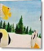 Butterfly Fish Metal Print by Savanna Paine