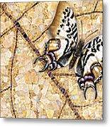 Butterfly Mosaic 01 Elena Yakubovich Metal Print by Elena Yakubovich