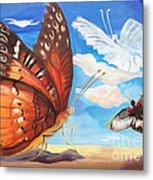 Butterfly Paysage 2 Metal Print by Art Ina Pavelescu