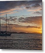 Bvi Sunset Metal Print by Adam Romanowicz