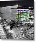 Bw Of American Airline Arena Metal Print by Joe Myeress