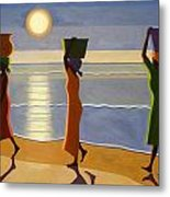 By The Beach Metal Print by Tilly Willis