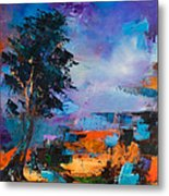 By The Canyon Metal Print by Elise Palmigiani