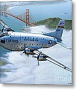 C-124 Shakey Over The Golden Gate Metal Print by Stu Shepherd