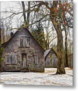 Cabin Dream Metal Print by Debra and Dave Vanderlaan