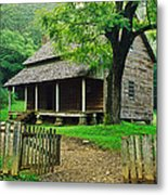 Cabin In The Mountains Metal Print by David Davis