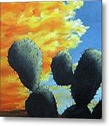 Cacti At Sunset Metal Print by Roseann Gilmore