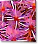 Cactus Pattern 3 Pink Metal Print by Amy Vangsgard