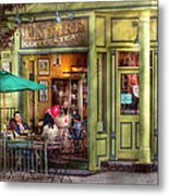 Cafe - Hoboken Nj - Empire Coffee And Tea Metal Print by Mike Savad