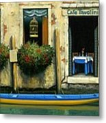 Cafe Tavolini Metal Print by Michael Swanson