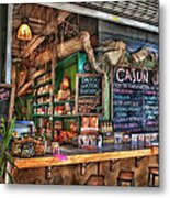 Cajun Cafe Metal Print by Brenda Bryant
