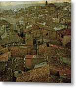 Calahorra Roofs From The Bell Tower Of Saint Andrew Church Metal Print by RicardMN Photography