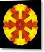 California Poppy Flower Mandala Metal Print by David J Bookbinder