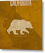 California State Facts Minimalist Movie Poster Art  Metal Print by Design Turnpike