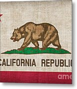 California State Flag Metal Print by Pixel Chimp