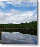 Calm Lake - Turbulent Sky Metal Print by Georgia Mizuleva