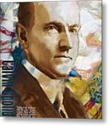Calvin Coolidge Metal Print by Corporate Art Task Force
