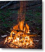 Camp Fire Metal Print by Boon Mee