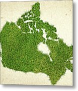 Canada Grass Map Metal Print by Aged Pixel