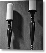 Candlestick Metal Print by Frozen in Time Fine Art Photography