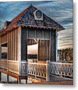 Canebrake Boat House Metal Print by Brenda Bryant