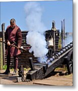 Cannon Firing At Fountain Of Youth Fl Metal Print by Christine Till