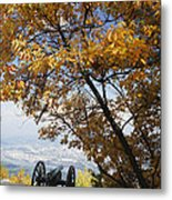 Cannon On Top Of Lookout Mountain Metal Print by Bruce Roberts