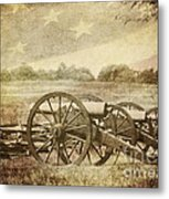 Cannons At Pea Ridge Metal Print by Pam  Holdsworth