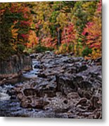 Canyon Color Rushing Waters Metal Print by Jeff Folger