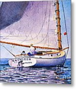Cape Cod Catboat Metal Print by Karol Wyckoff