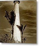 Cape Florida Lighthouse Metal Print by Skip Willits