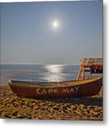 Cape May By Moonlight Metal Print by Bill Cannon