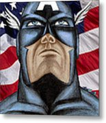 Captain America Metal Print by Michael Mestas