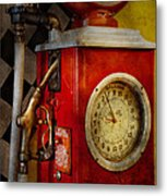 Car - Station - 19 Gallons  Metal Print by Mike Savad