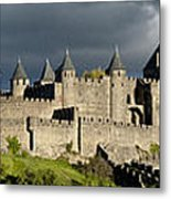 Carcassonne Panorama Metal Print by Robert Lacy