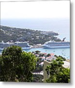 Caribbean Cruise - St Thomas - 1212268 Metal Print by DC Photographer