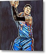 Carmelo Anthony Metal Print by Dave Olsen