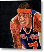 Carmelo Anthony - New York Knicks Metal Print by Michael  Pattison
