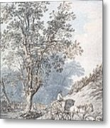Cart And Horse Metal Print by Joseph Constantine Stadler