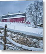 Carter Farm - Litchfield Hills Winter Scene Metal Print by Thomas Schoeller