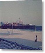 Casino Pier Seaside Heights Nj Metal Print by Joann Renner