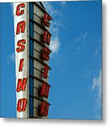 Casino Sign Metal Print by Norman Pogson