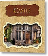 Castle Button Metal Print by Mike Savad