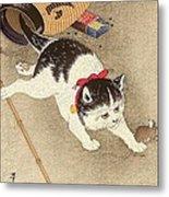 Cat Metal Print by Pg Reproductions
