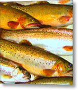 Catch Of The Day - Painterly - V2 Metal Print by Wingsdomain Art and Photography