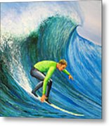 Catch The Wave Metal Print by Bev Martin