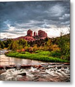 Cathedral Crossing Red Rock Metal Print by Linda Pulvermacher