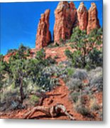 Cathedral Rock Metal Print by Lori Deiter