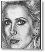 Catherine Deneuve In 1976 Metal Print by J McCombie